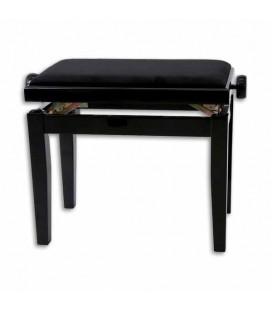 Bench Black Rectangular Adjustable 130010