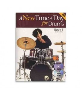 Livro Music Sales BM12001 A New Tune a Day for Drums Book CD DVD