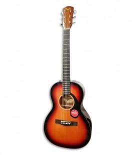 Guitarra Acústica Fender CP-60S Parlor Spruce Maciço Mogno WN Sunburst