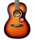 Foto del cuerpo y roseta de la Guitarra Acústica Fender CP-60S Parlor Sunburst