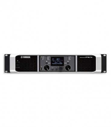Photo of the Power Amplifier Yamaha model PX5's controls