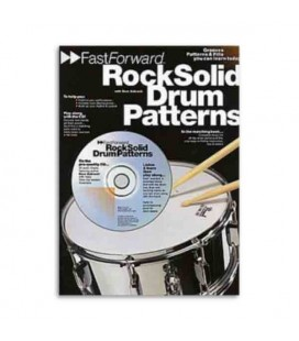Livro Music Sales AM92666 Fast Forward Rock Solid Drum Patterrns