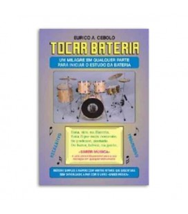 Eurico Cebolo Book Método Tocar Bateria with CD BAT