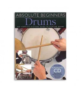 Livro Music Sales AM92617 Absolute Beginners Drums Book CD