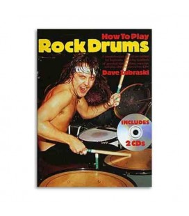 Livro Music Sales AM957253 How To Play Rock Drums Book CD