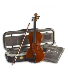 """Foto de la viola Stentor Conservatoire 16"""" con el arco y estuche"""