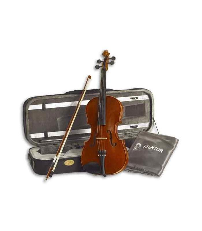"""Viola de Arco Stentor Conservatoire 16"""" con Arco y Estuche"""