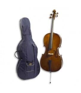 Foto do violoncelo Stentor Student I 3/4 com o saco