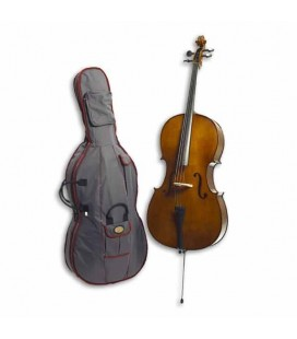 Foto do violoncelo Stentor Student II 3/4 SH com o saco