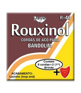 Juego de Cuerdas Rouxinol R40 con Lazo para Mandolina 8 Cuerdas