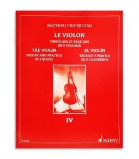 Livro Mathieu Crickboom para Violino Teórico e Prático Vol 4 SFF30020