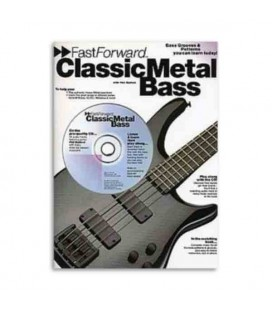 Livro Music Sales AM92429 Fast Forward Classic Metal Bass
