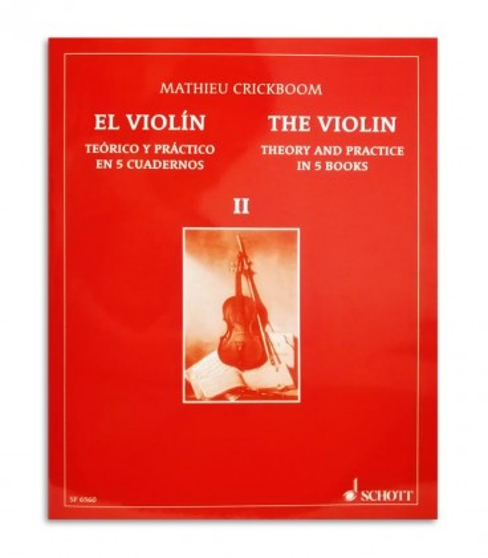 Livro Mathieu Crickboom para Violino Teórico e Prático Vol 2 SF6560