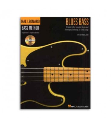 Livro Music Sales HL00695870 Blues Bass Method Book and CD