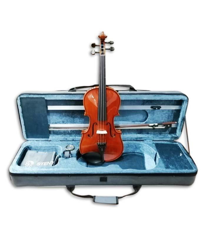 Foto do violino Stentor Conservatoire 4/4 com arco e estojo