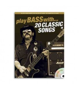 Livro Music Sales AM1006610 Play Bass With 20 Classic Songs