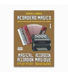 Libro Eurico Cebolo ACM 1 Método Acordeão Mágico no 1 con CD Kit