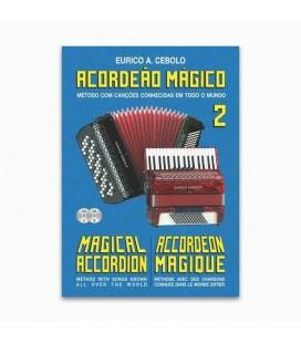 Libro Eurico Cebolo ACM 2 Método Acordeão Mágico no 2 con CD Kit