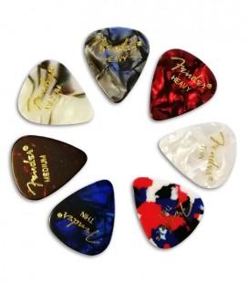 Foto de várias palhetas Fender
