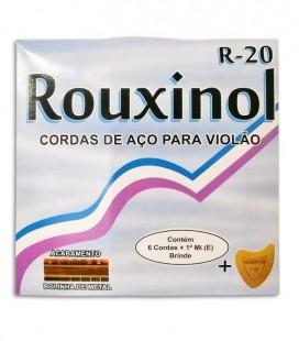 Jogo de Cordas Rouxinol R20 Viola de Fado 011 042 Bola