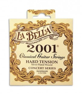 Juego de Cuerdas LaBella 2001 para Guitarra Clásica Tension Alta
