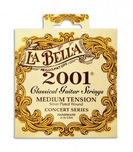 Juego de Cuerdas LaBella 2001 para Guitarra Clásica Tensiono Média