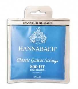 Jogo de Cordas Hannabach E800HT Guitarra Clássica Nylon Alta Tensão