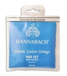 Juego de Cuerdas Hannabach E800HT Guitarra Clásica Nylon Alta Tensión