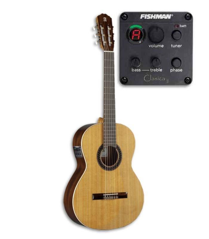 Guitarra clássica Alhambra 1C EZ com pré-amplificador  Fishman EZ Clásica II