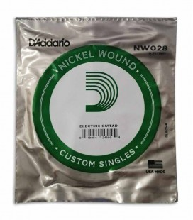 Individual String Daddário NW028 for Electric Guitar Nickel Wound