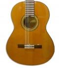 O tampo da guitarra clássica Alhambra 3C E1 é em cedro