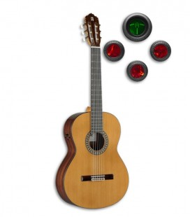 Guitarra Clássica Alhambra 5P E8 Equalizador Cedro Pau Santo