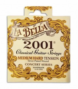 Juego de Cuerdas LaBella 2001 para Guitarra Clásica Tensiono Média Alta