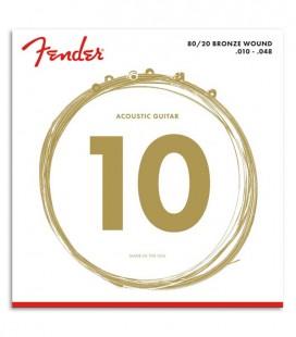 Juego de Cuerdas Fender 60XL para Guitarra Folk Phosphor Bronze 010