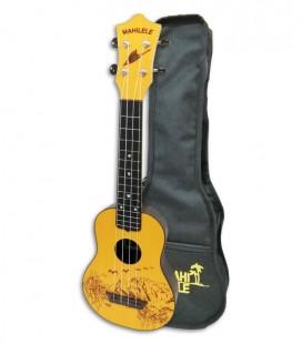 Foto do ukulele soprano Mahilele ML3 GDWD com o saco