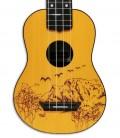 Corpo do ukulele soprano Mahilele ML3 GDWD