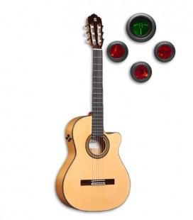 Guitarra Flamenca Alhambra 7FC CW E8 foto de la guitarra y del preamplificador