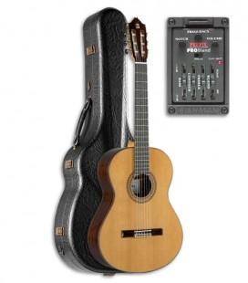 Photo of guitar Alhambra 9P and preamp Fishman E2