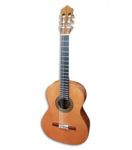 Photo of the Paco Castillo classical guitar 204 front and three quarters