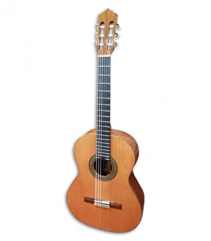 Foto guitarra clásica Paco Castillo 204 de frente y en trés cuartos