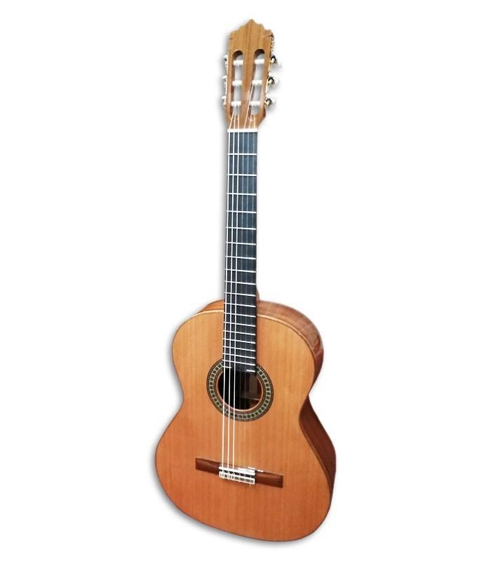 Foto guitarra clássica Paco Castillo 204 de frente e em três quartos