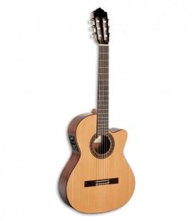 Foto guitarra clássica Paco Castillo 222 CE frente e três quartos