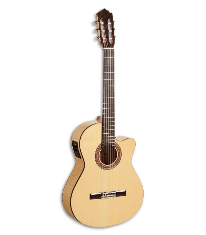 Foto guitarra clássica Paco Castillo 223 FCE de frente e em três quartos