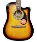 Photo of the Fender Folk Guitar model FA 125CE Sunburst top and rosette