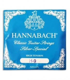 Foto de la cuerda Hannabach 8159HT 9ª Nylon para Guitarra Clásica portada paquete