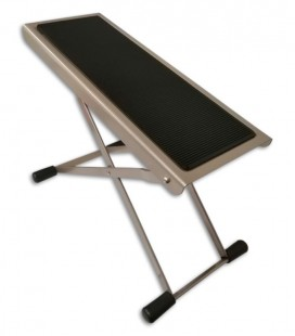 Photo of the Foot Stool K&M model 536509 nickel plated for Guitarrist