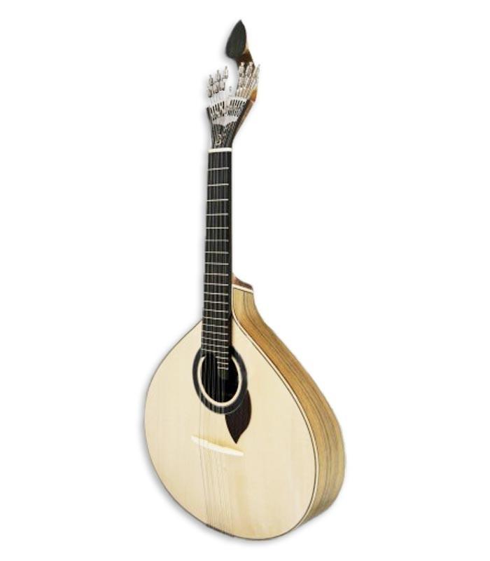 Foto de la guitarra portuguesa de estilo coimbra APC modelo 308CB de frente y en trés cuartos