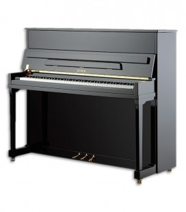 Photo of the Upright Piano Petrof model P122 H1 Higher Series front and in three quarters