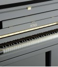 Photo detail of the keyboard and body of the Upright Piano Petrof P122 H1