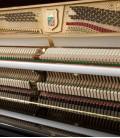 Foto de la mecánica del Piano Vertical Petrof P122 N2